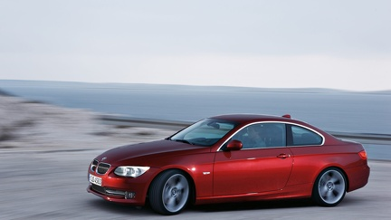 BMW serie 3 - rouge - Wallpaper (3)