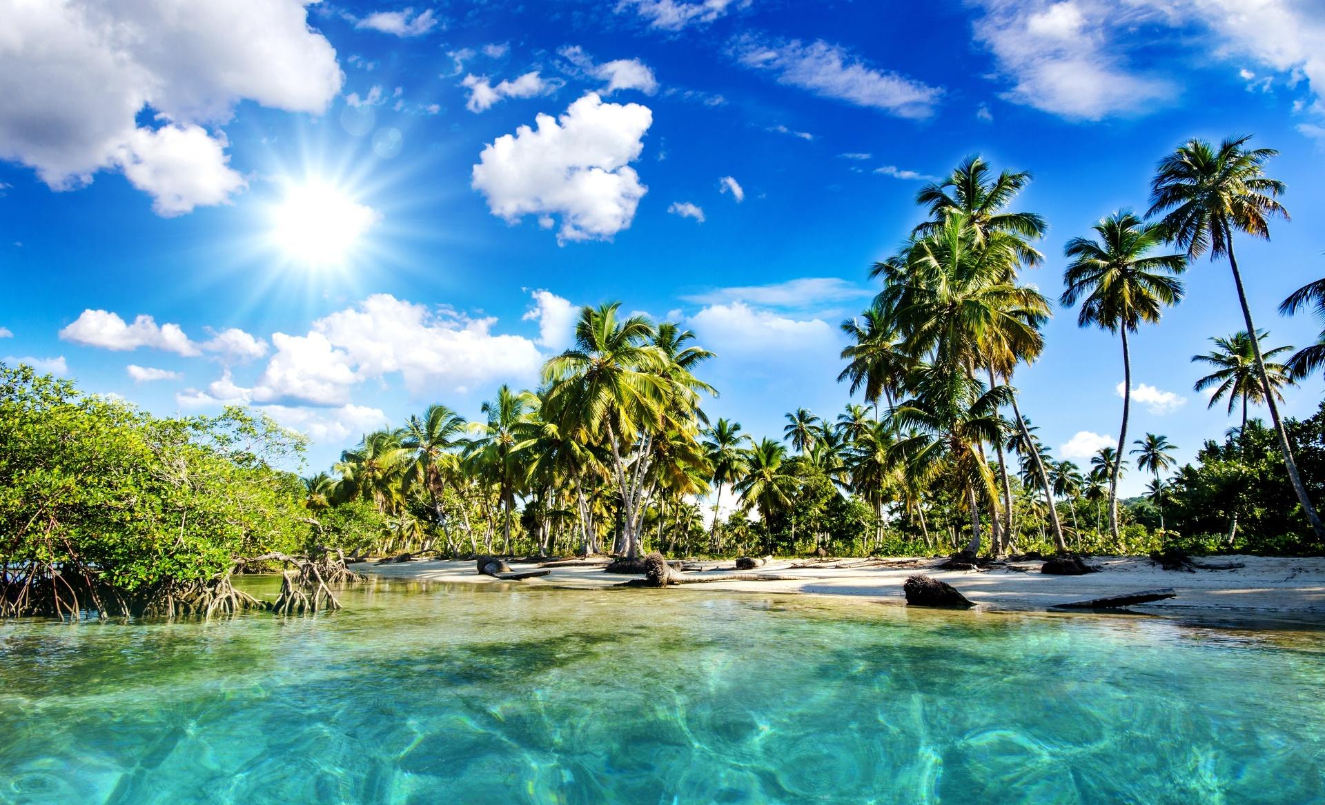 Magnifique plage - Wallpaper - Fond d'écran HD