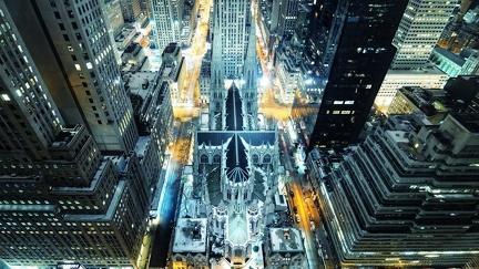 New York - Aerial View - Screen Wallpaper