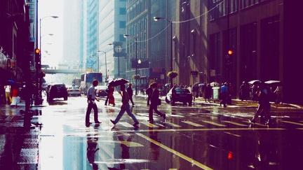 Rain on Manhattan
