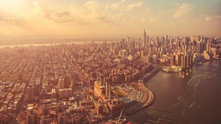 Stunning view of New York