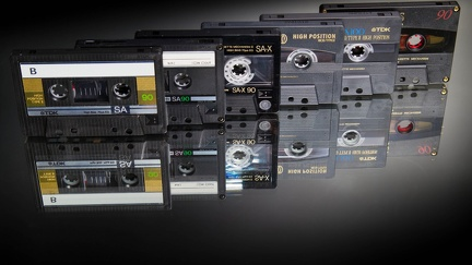 Audio Cassettes - Retro Wallpaper