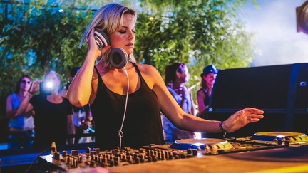 DJ music woman