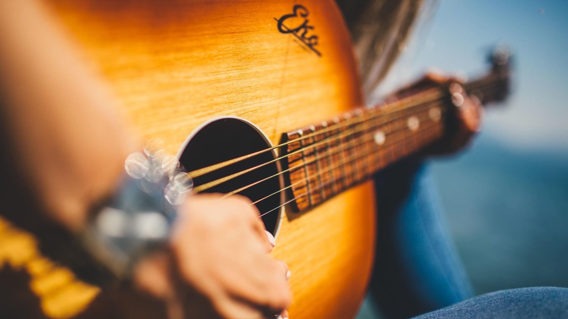 Musique guitare acoustique - wallpaper - Fond d'écran HD