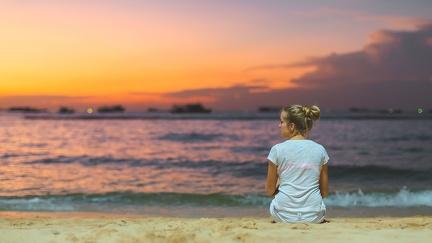 On the beach in Thailand