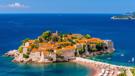 Seaside village in Montenegro