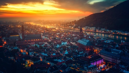 View of Heidelberg, Germany - 1920x1080