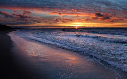 Sunset on the beach (2)