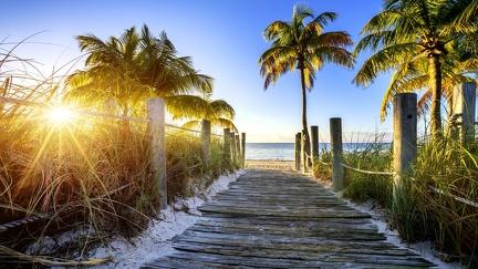 Towards the sunny beach