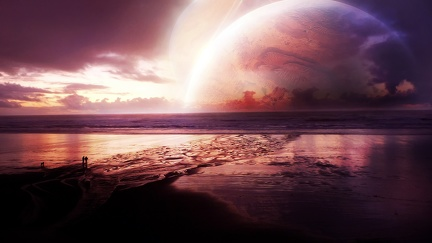 Creation sunset planete - HD