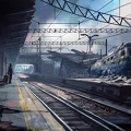 Dessin accident train - wallpaper japan