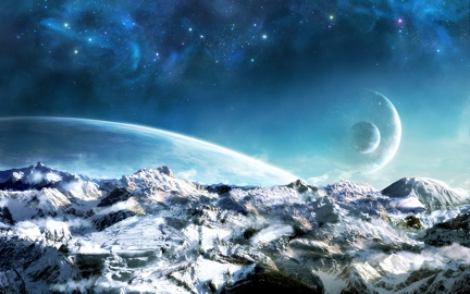 Unknown planet landscape