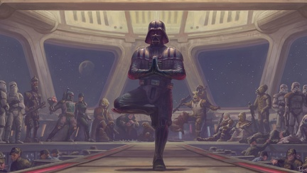 Star wars - Dark wador au Yoga - création HD