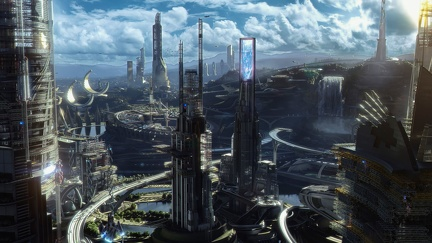 City of the future - 3D creation UltraHD