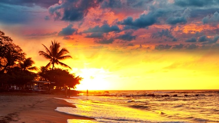 Tropical beach - sunset