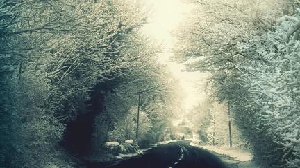Road in winter - HD wallpaper
