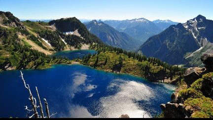 Lakes in the mountains