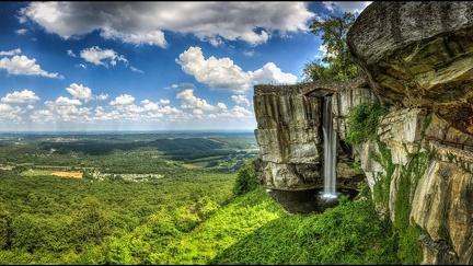Mountains landscape - waterfall -0