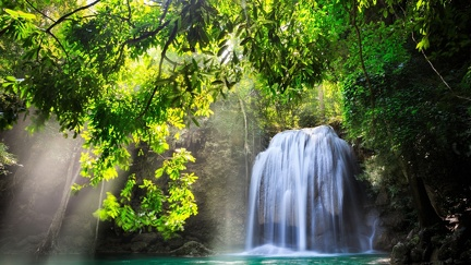 Tropical spring - waterfall