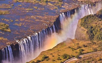 Aerial View - Victoria Falls - Zimbabwe