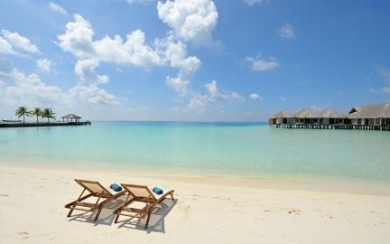 Deckchairs in the Maldives