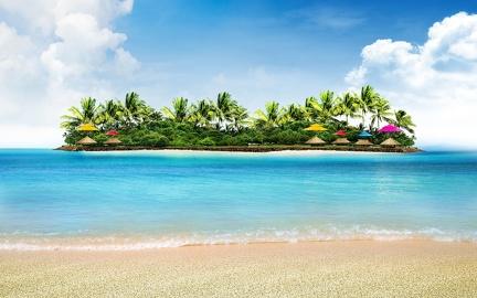 Holidays on an island