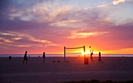 Volley sur la plage - Californie