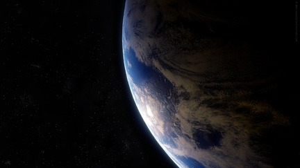 Earth in space - wallpaper