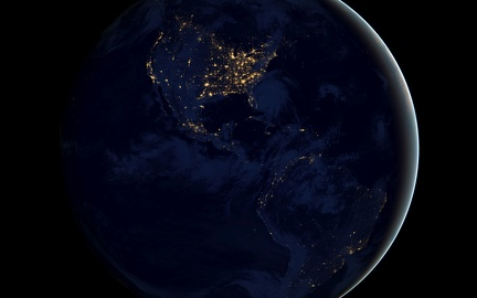 America at night - from space