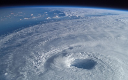 Eye of the cyclone - Satellite photo