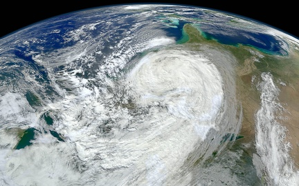 Hurricane - satellite view