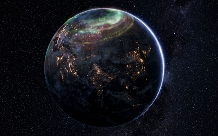 Earth view from space - Desktop wallpaper