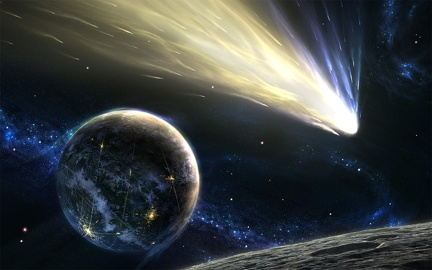 Graphic Design - Asteroid in Space