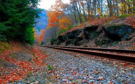Railway - Autumn Landscape