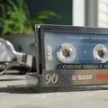 Cassette et écouteurs - retro wallpaper