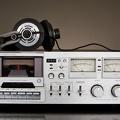 Ampli lecteur de cassette rétro