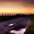 Route - coucher de soleil - bord de mer