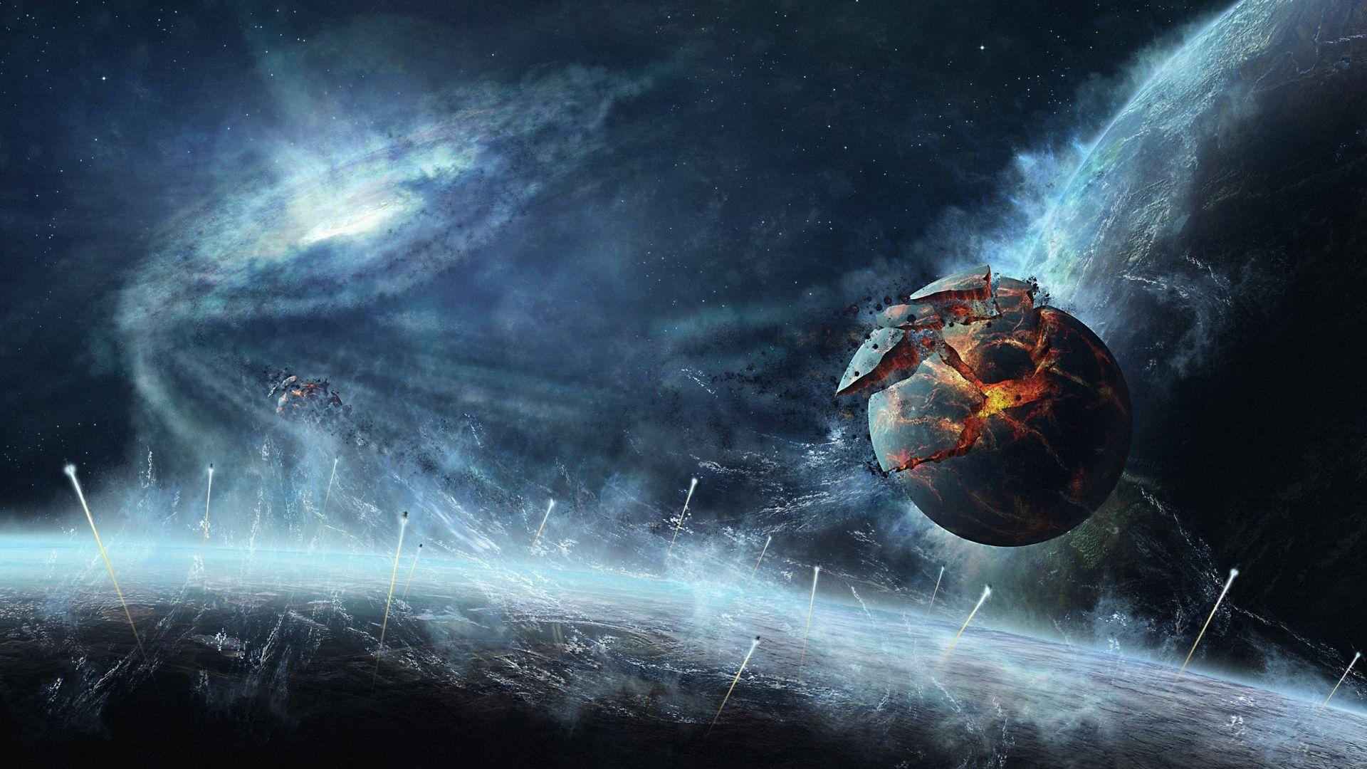 Apocalypse Espace Wallpaper 1920x1080 Fond D Ecran Hd
