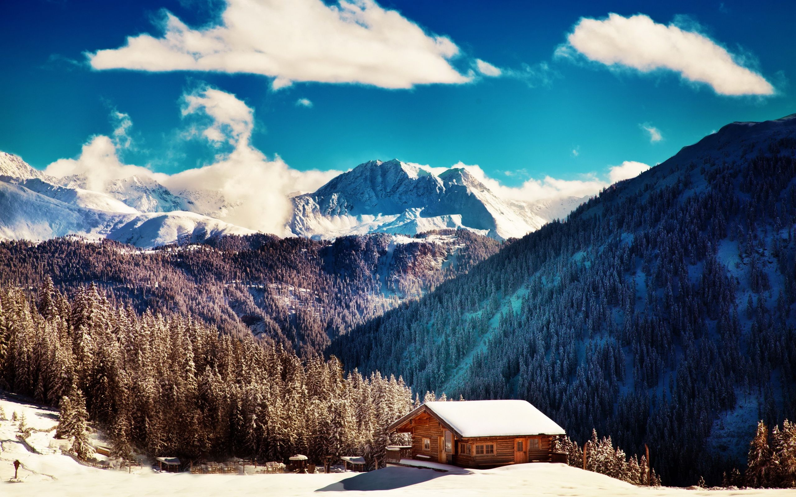 Chalet De Montagne Fond D Ecran Hd