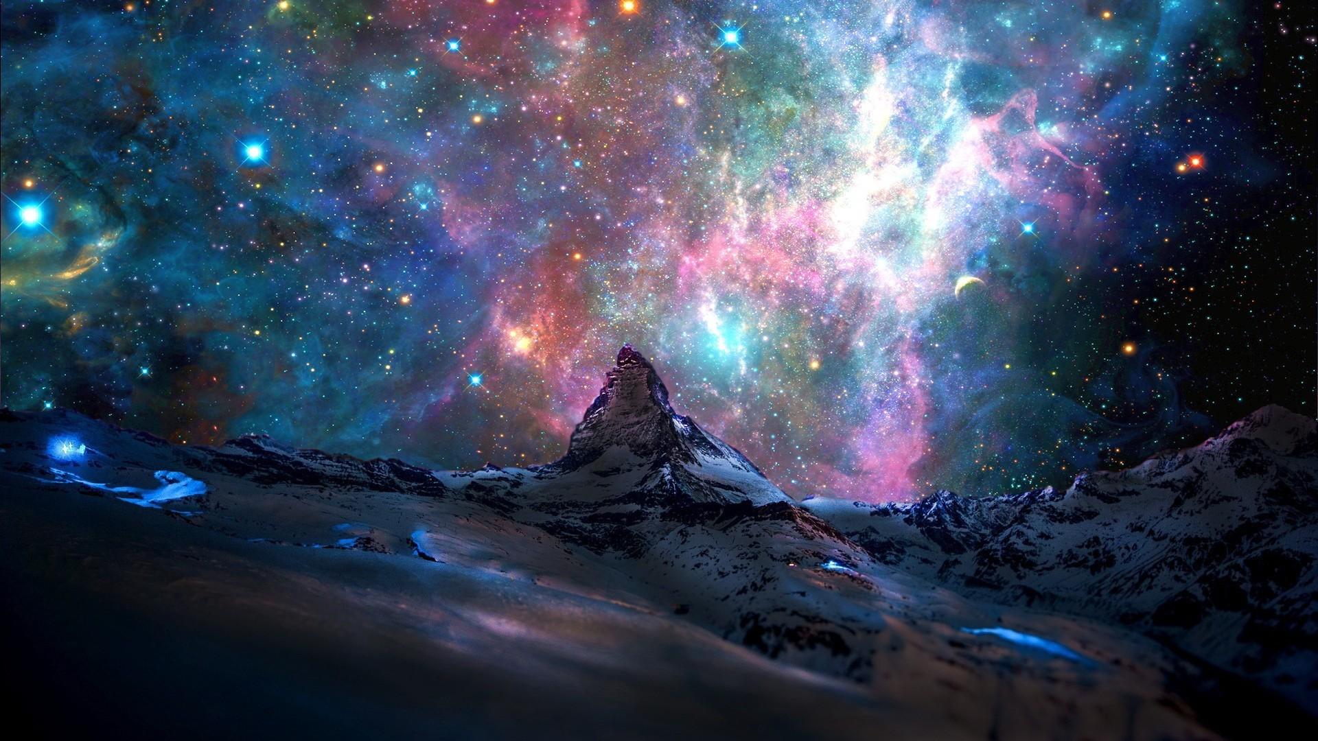 Création - incroyable ciel étoilé - Fond d'écran HD
