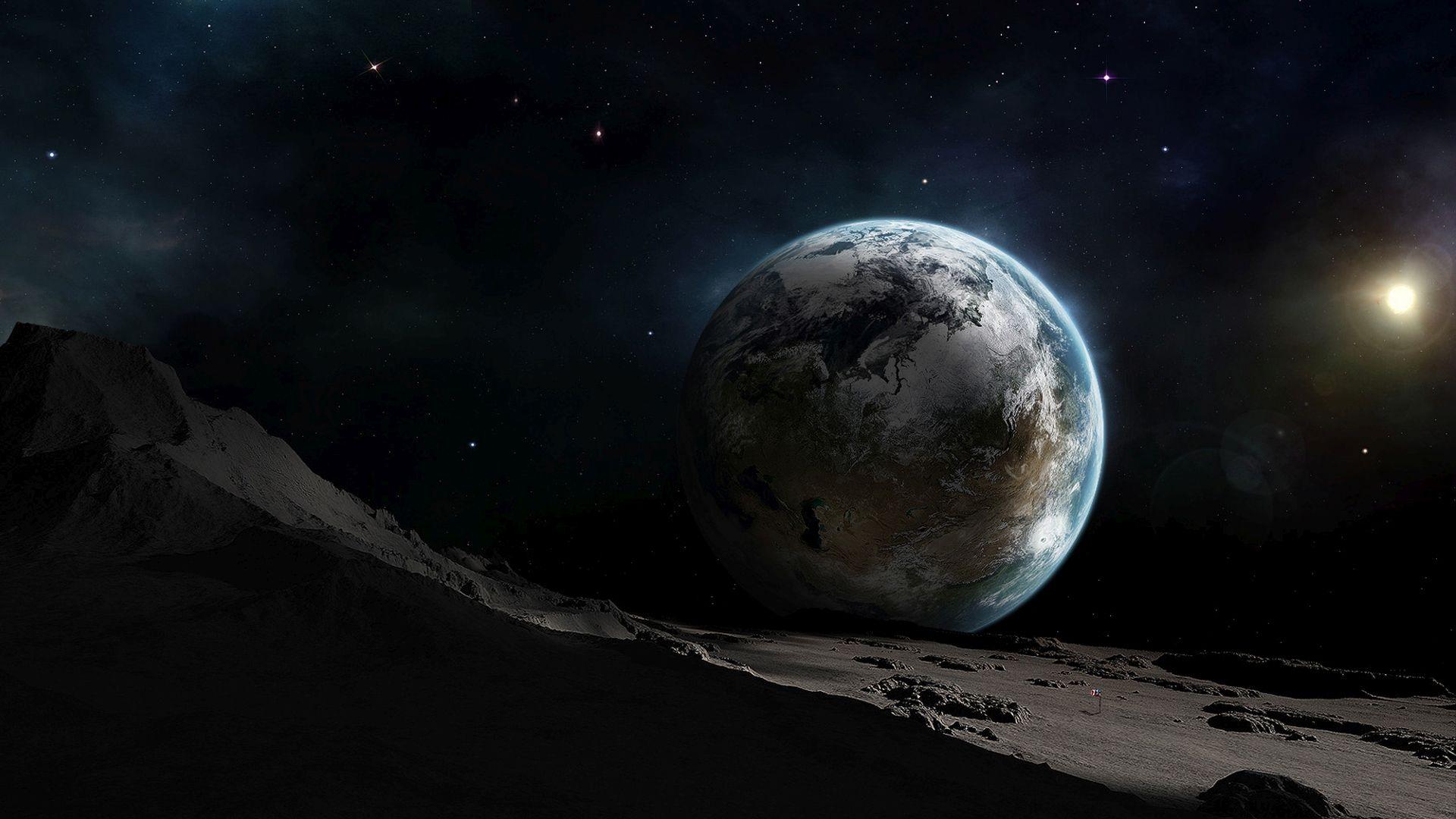 Terre vue de la lune Fond d'écran - Fond d'écran HD